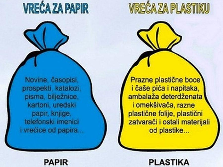 Obavijest o odvozu razvrstanog otpada za studeni i prosinac 2018.g