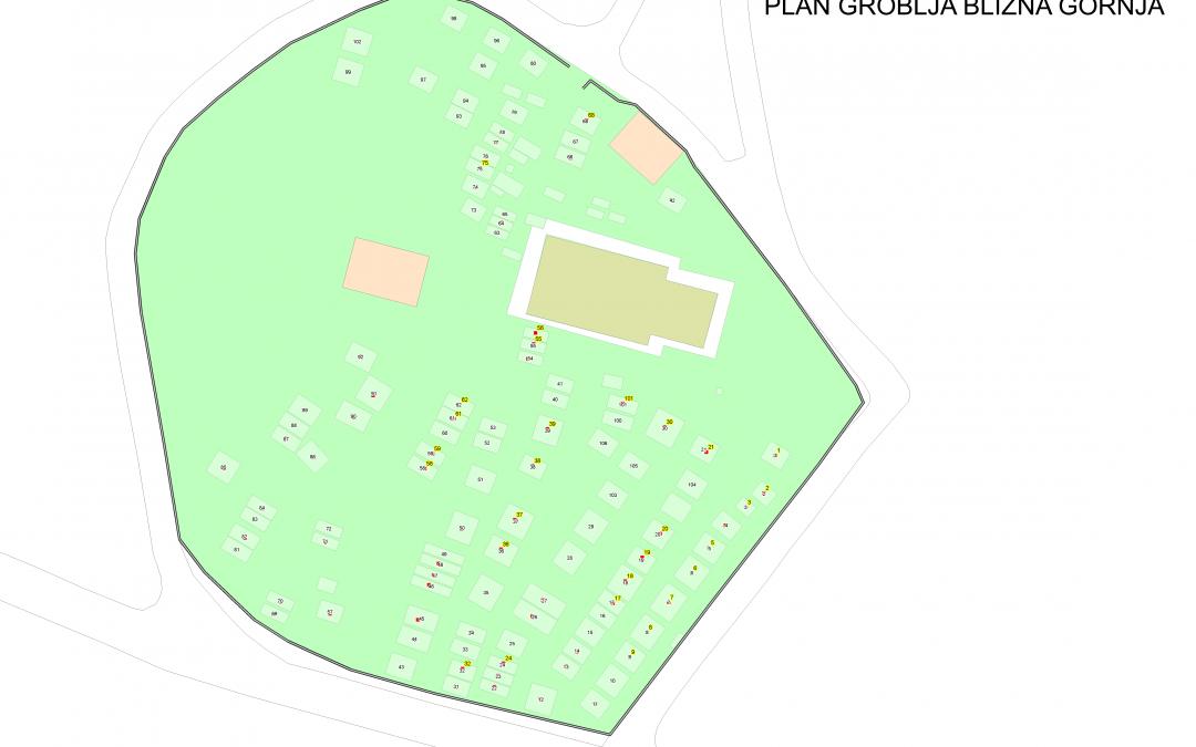 Plan groblja Blizna Gornja