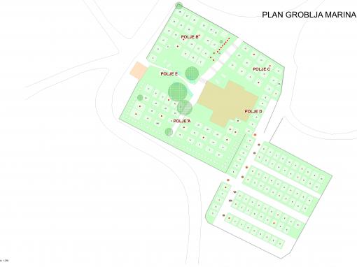Plan groblja Marina