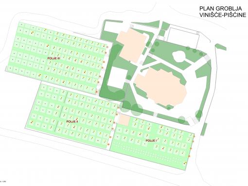 Plan groblja Vinišće-Pišćine
