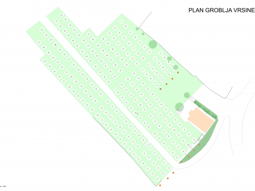 Plan groblja Vrsine